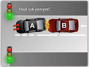 Kırmızı ışıkta kaza